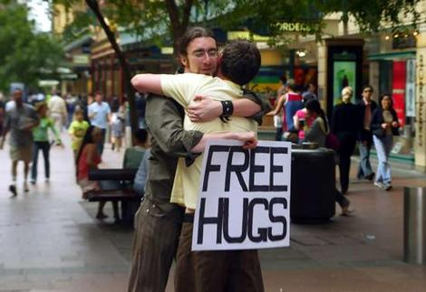 Image result for hug a homeless person
