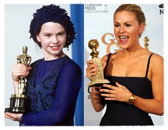 Anna Paquin; then and now.