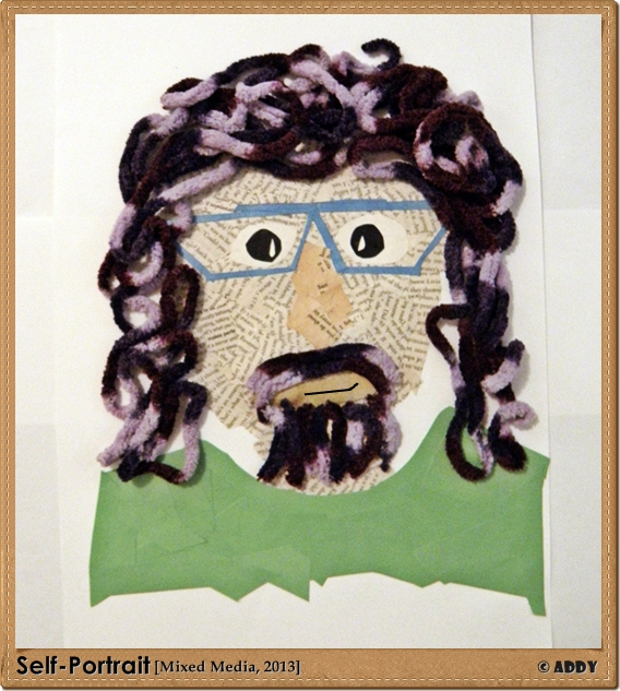 Self Portrait (Mixed Media, 2013)