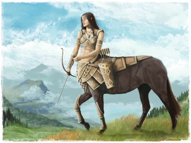 centaur_huntress_by_janiceduke-d5grw9q