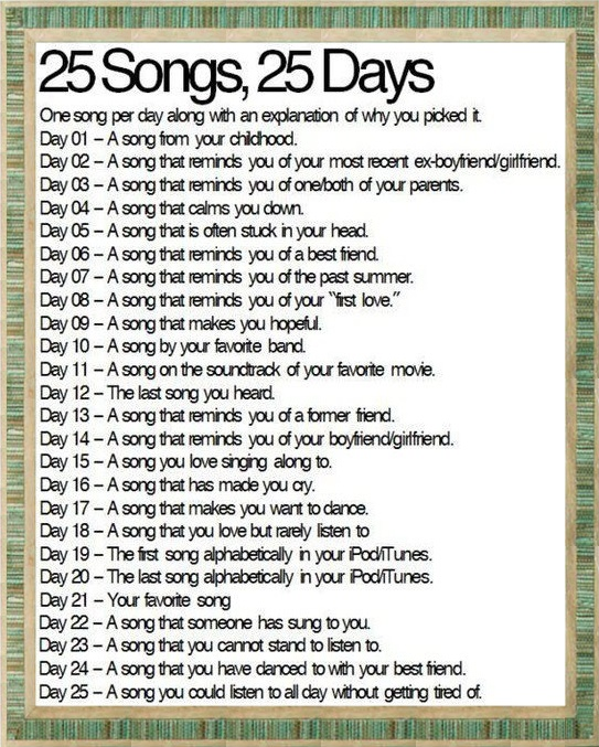 25-songs-blog-challenge