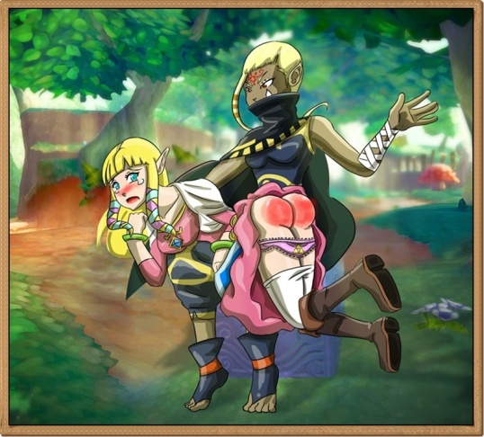 If Link gets a spanking then Zelda gets a spanking to. LolaASD, the artist behind this magnifical work captures the style of Skyward Sword perfectly. Oh how I wish this scene took part in the game! :) ~Meadhbh