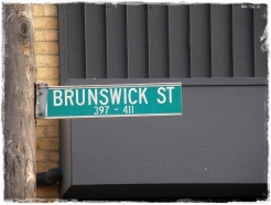 Brunswick Stree Street Sign (To prove I was there!)