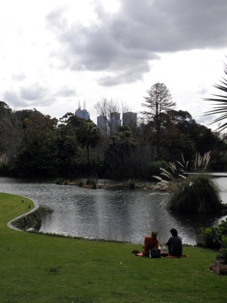 Glimpsing the city from the Royal Botanical Gardens.