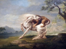 A Lion Attacking a Horse (George Stubbs)