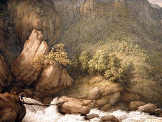 A Mountain Torrent (John Glover)