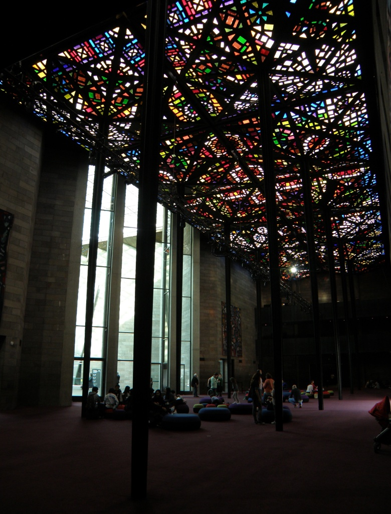 The Leonard French stained glass ceiling.