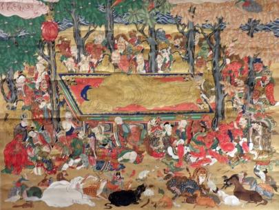 Death of Buddha [Buddha's Parinirvana] (Artist Unknown)