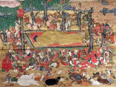 Death of Buddha [Buddha's Parinirvana] (Artist Unknown)