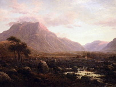 Entrance to Glen Etive from Near King's House (Waller H Paton)