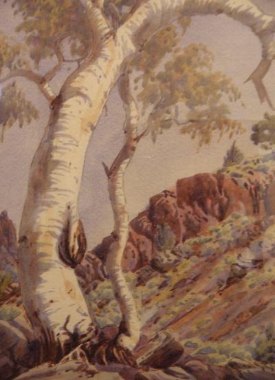 Ghost Gums, MacDonnell Ranges, Central Australia (Albert Namatjira)