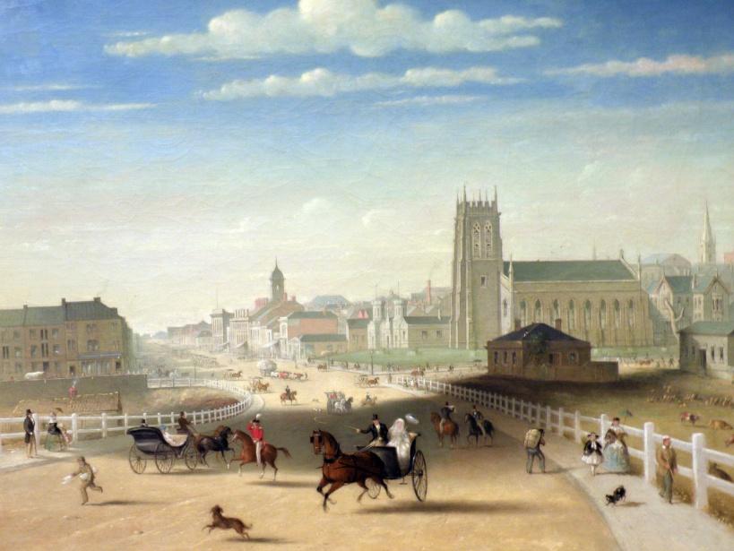 Swanston Street from the Bridge (Henry Burn)