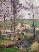 The Banks of the Viosne at Osny in Grey Weather (Camille Pissarro)