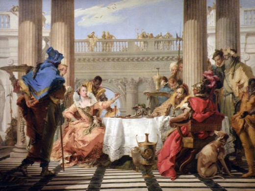 The Banquet of Cleopatra (Giambattista Tiepolo) [Note: This is my favourite painting in the international collection!]