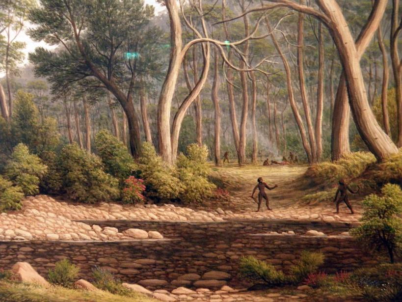 The River Nile, Van Diemen's Land, from Mr Glover's Farm [Detail] (John Glover)