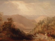 The Valley of the Macdonald from the road beyond Wiseman's Pass (Conrad Martens)